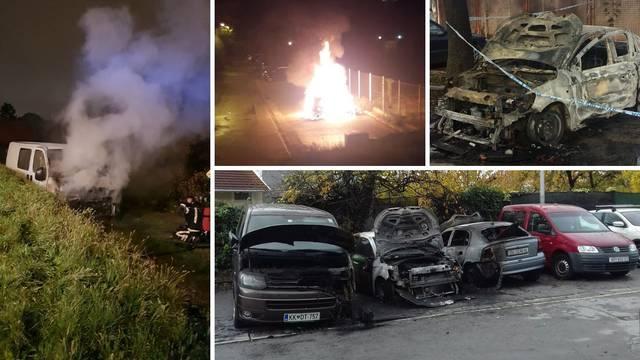 Požari po cijelom Zagrebu: Na pet lokacija gorjelo osam vozila