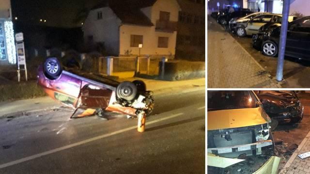 Sudario se sa šest automobila i završio na krovu, nije ozlijeđen