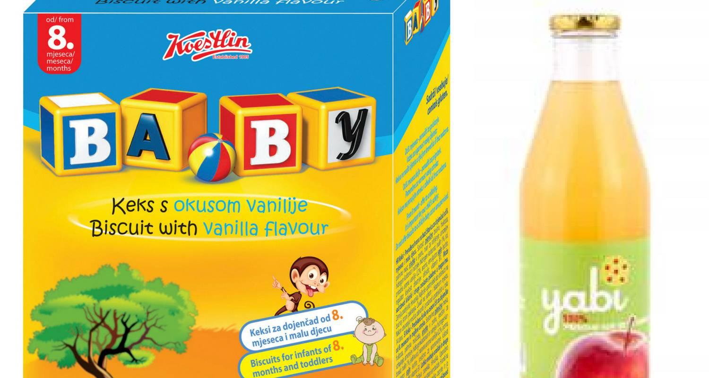 Koestlin baby keksi i Yabi sok od jabuke su rizik za zdravlje