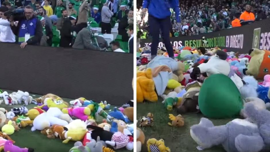 Humanitarni Španjolci: Teren preplavili plišanim igračkama!