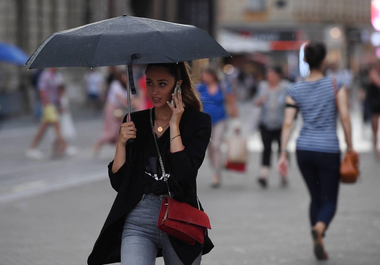 Zagreb: Kiša u večernjim satima osvježila grad