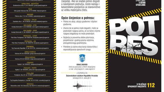 Upute za slučaj potresa: Mirno izađite van, ne koristite dizalo!