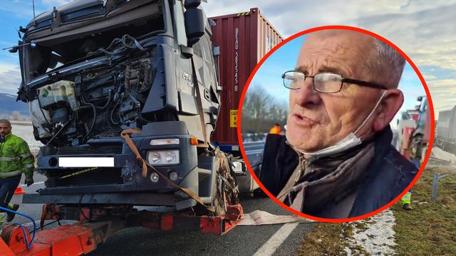 Vozač jednog od kamiona iz sudara kod Novske: 'Čista je sreća da netko nije poginuo'