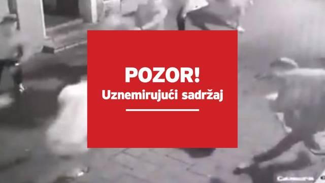 UZNEMIRUJUĆE Strašna snimka tučnjave iz Srbije: Udarali su ga na podu i skakali mu po glavi