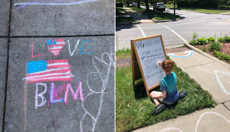 Dječak je sam održao prosvjed protiv rasizma ispred svoje kuće