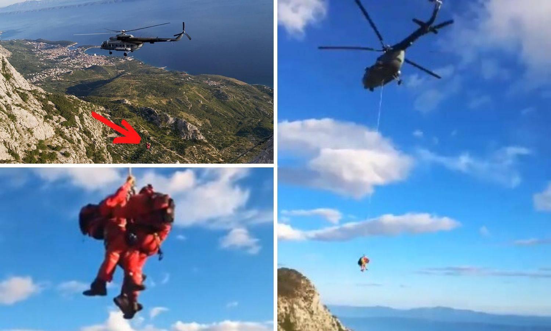 Pogledajte dramatičnu akciju spašavanja na Biokovu: 'Dvoje njih bilo je u teškom stanju'