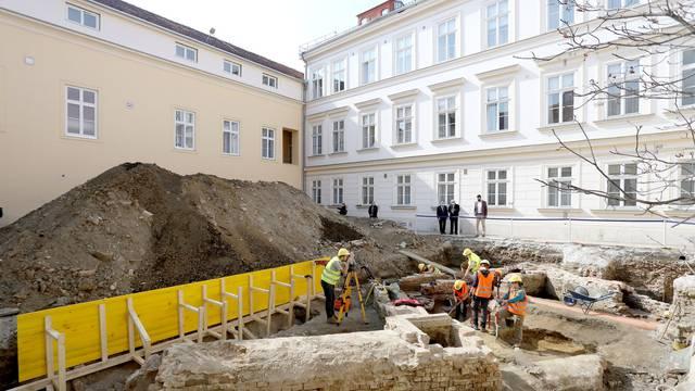 Uz nazočnost premijera u Banskim dvorima predstavljena prva faza arheoloških istraživanja