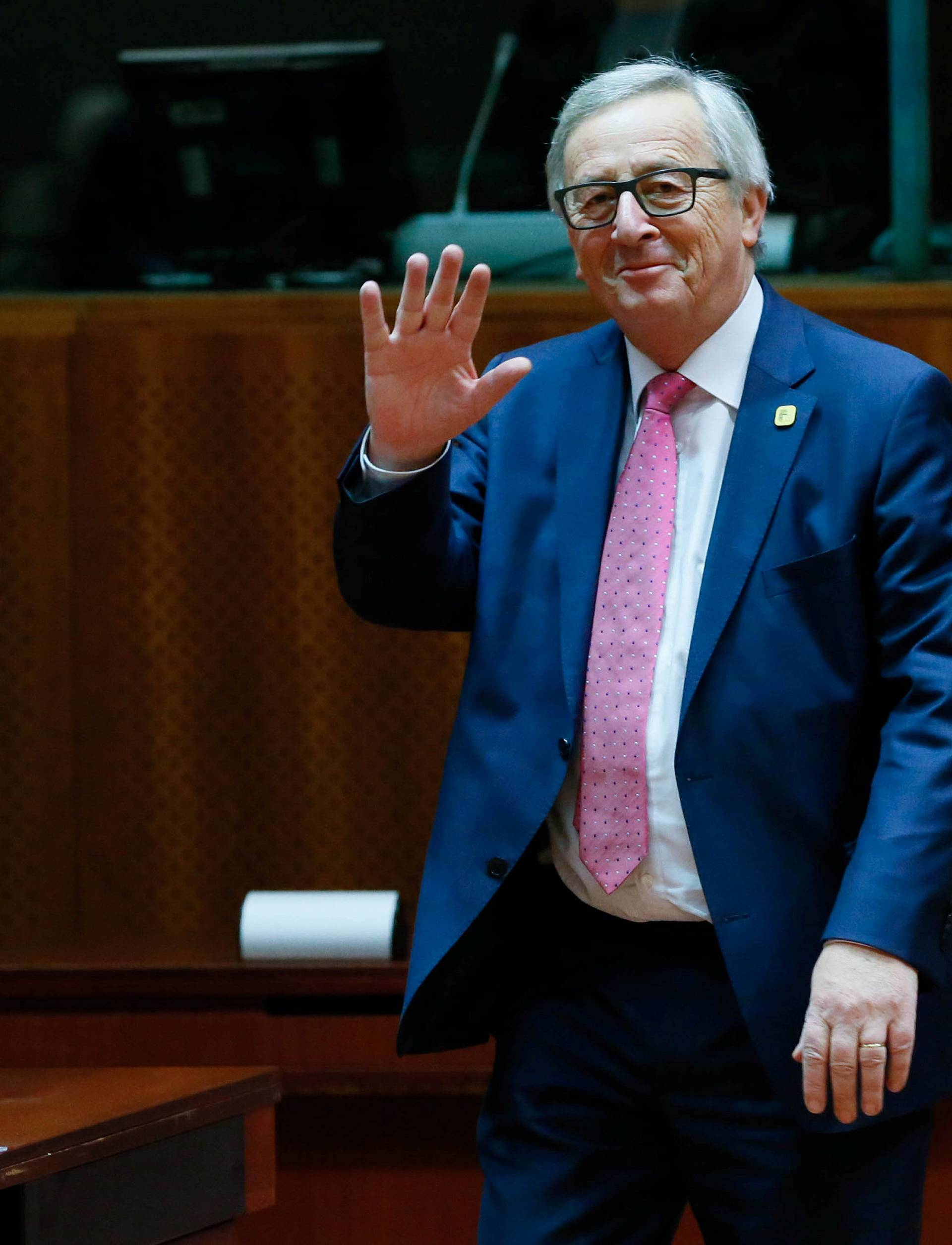 European Commission President Jean Claude Juncker attends a EU Summit at the European Council headquarters in Brussels