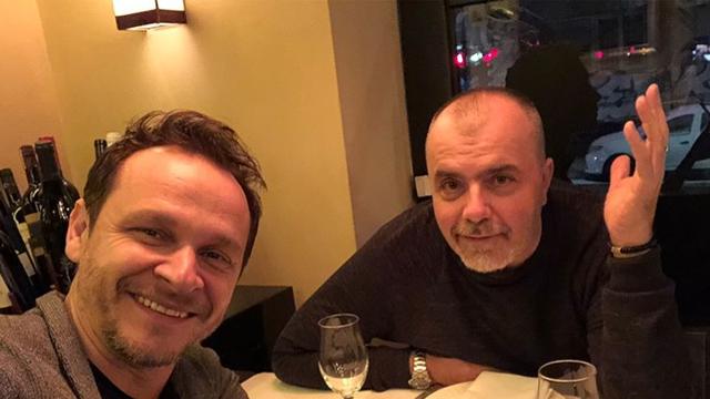 Opet zajedno: Enis Bešlagić i Nikola Kojo uživali su na večeri