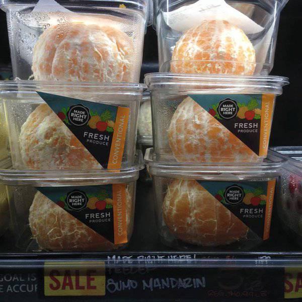 Rješenje za ljenjivce: Prodaju oguljene naranče u pakiranju