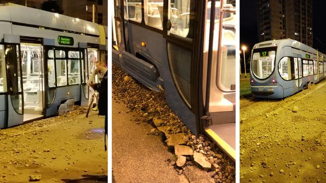 Tramvaj izletio s tračnica na Borongaju i pokosio rub staze: 'Netko je mogao nastradati'