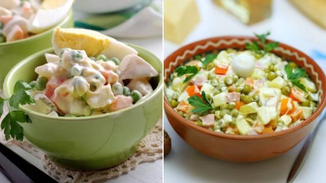 Volite li više francusku ili rusku salatu? Razlika u sastojcima je mala, ali lakoća i tekstura nisu