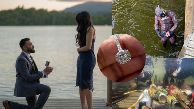 Romantična prosidba pretvorila se u potragu: Prsten vrijedan 40.000 kn im upao u jezero