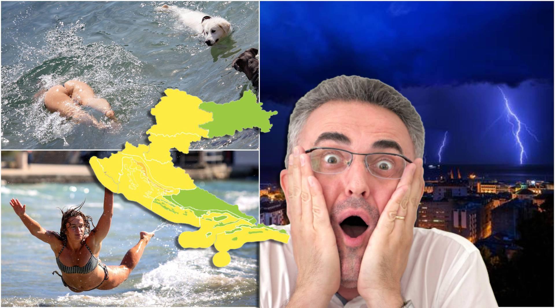 Žuta upozorenja za Hrvatsku: Ljeto više jedva diše, nije čudo što najavljuju pljuskove i kiše