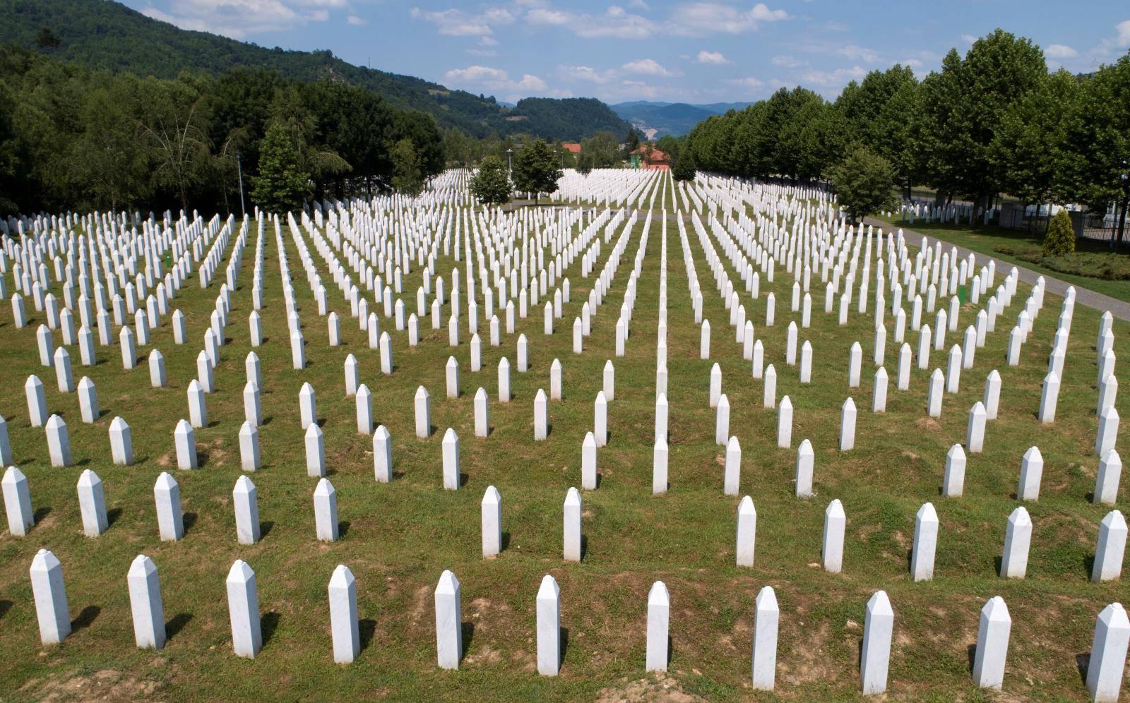 FILE PHOTO: An aerial view of the Memorial Center in Potocari near Srebrenica