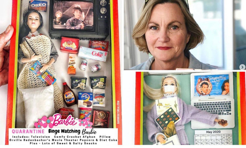Njene barbike oslikavaju život iz karantene: One čiste, peru...