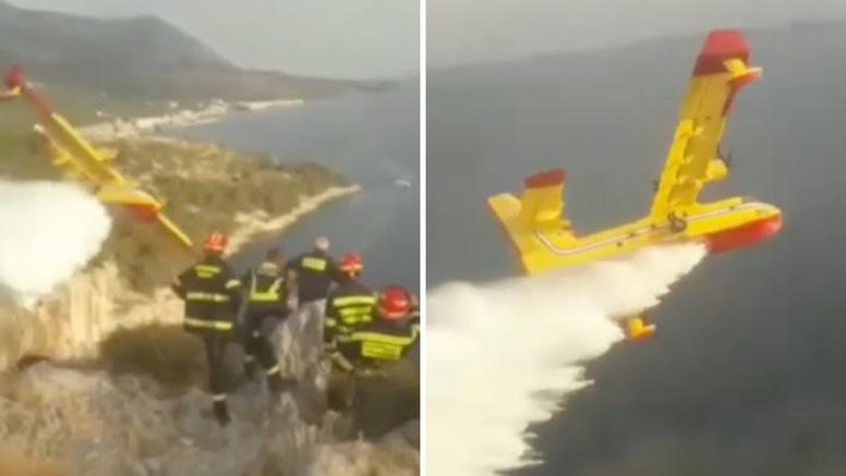 VIDEO Spektakularna vožnja pilota kanadera u Makarskoj: 'Je***e koji luđak...'