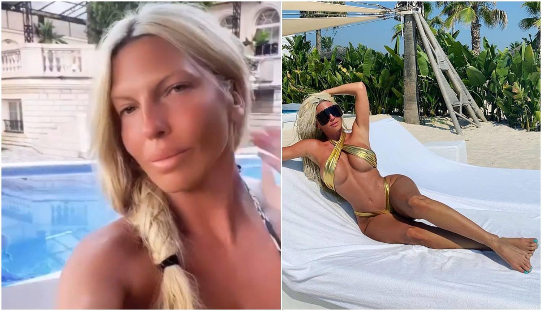 Karleuša i dalje provocira u mini kupaćima, pozirala bez šminke