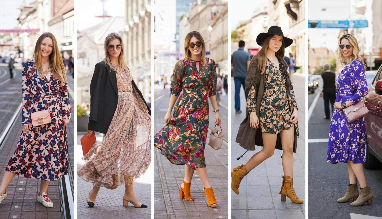 Lepršava cvjetna haljina za vrlo ženstven izgled svaki dan