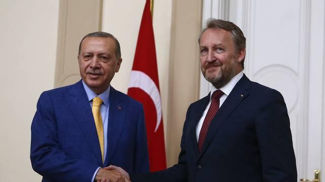Turkish President Erdogan meets with Chairman of the Tripartite Presidency of Bosnia and Herzegovina Izetbegovic in Sarajevo