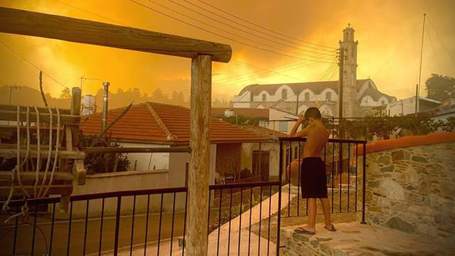 Forest fire in Cyprus