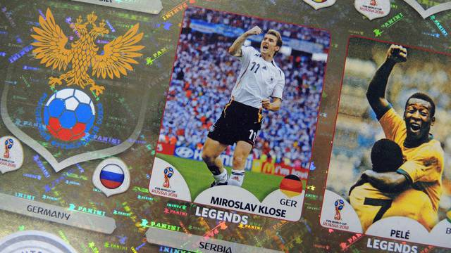 Panini stickers for World Cup in Russia