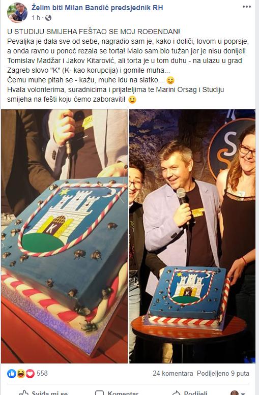 'Tužan san jer mi tortu nisu donijeli  Madžar i Kitarović...'