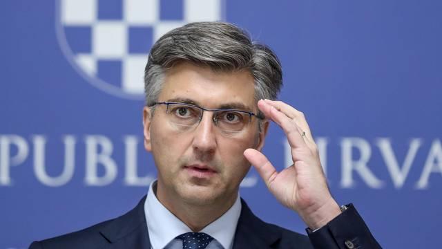 Zagreb: Premijer Andrej Plenković odrzao konferenciju za novinare u Banskim dvorima