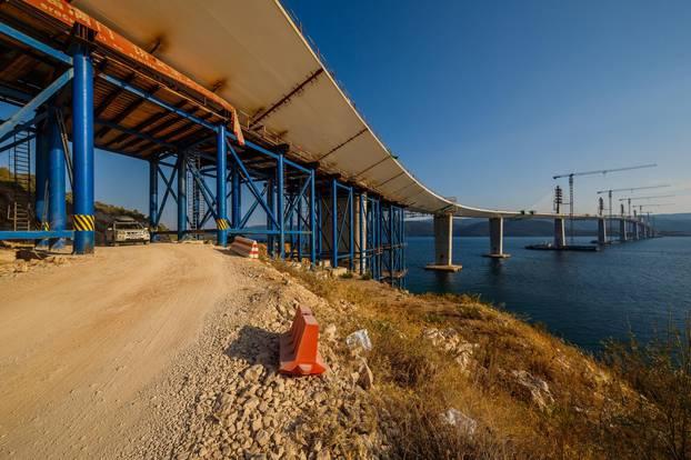 Fotografije iz zraka Peljeskog Mosta.