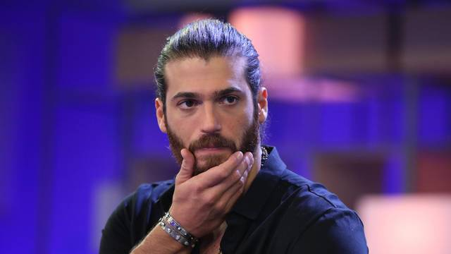 Actor Can Yaman during news conference in Madrid