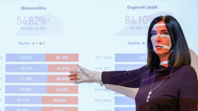 Zagreb: Brifing za medije ministrice znanosti i obrazovanja Blaženka Divjak
