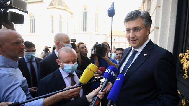 Zagreb: Dolazak premijera Andreja Plenkovića u Sabor na imenovanje nove Vlade