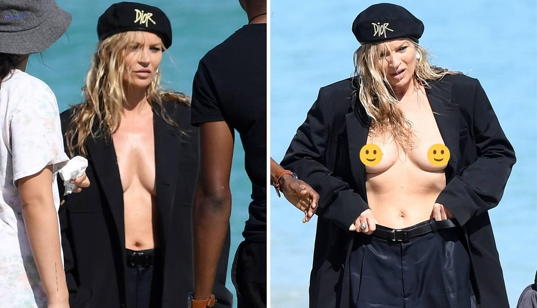 Kate Moss u 'vrućem' izdanju: Na snimanju otkrila gole grudi