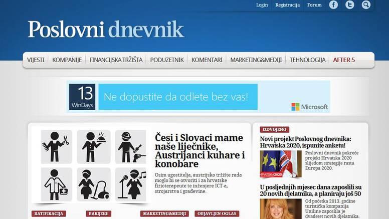 Poslovni.hr je najbrže rastući poslovni portal u Hrvatskoj