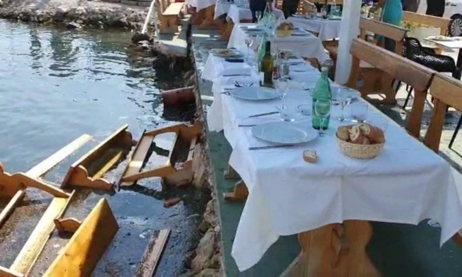 Dožupan, načelnik i direktor sjeli na službeni ručak i upali u more: 'Urušio se štekat, šta ćeš'