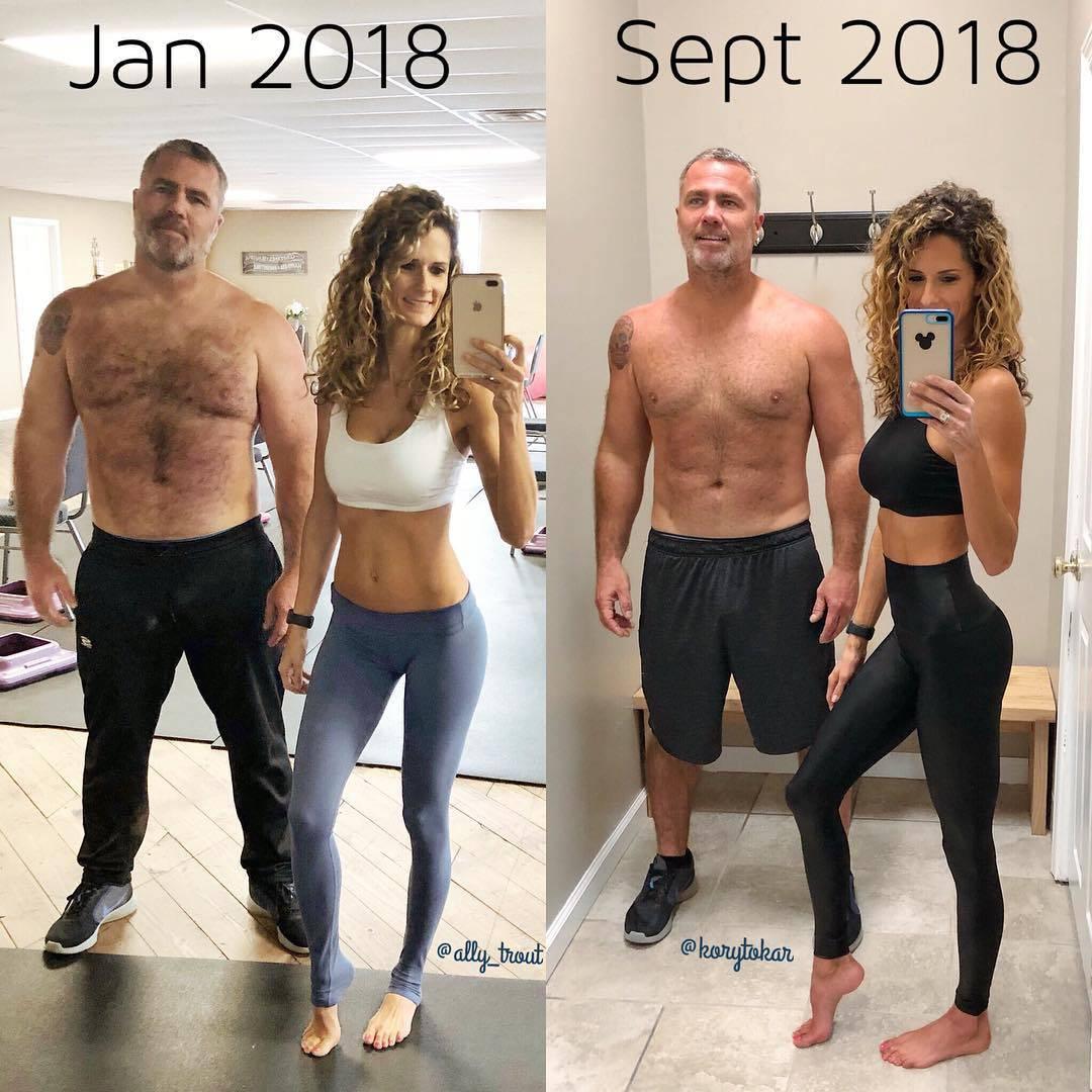 Zajedno smo počeli vježbati, a on je prije dobio savršeno tijelo