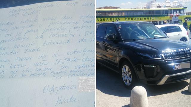 Zadranka parkirala pa ostavila poruku MUP-u: 'Slobodno dajte kaznu, zaradit ću za bolji auto'