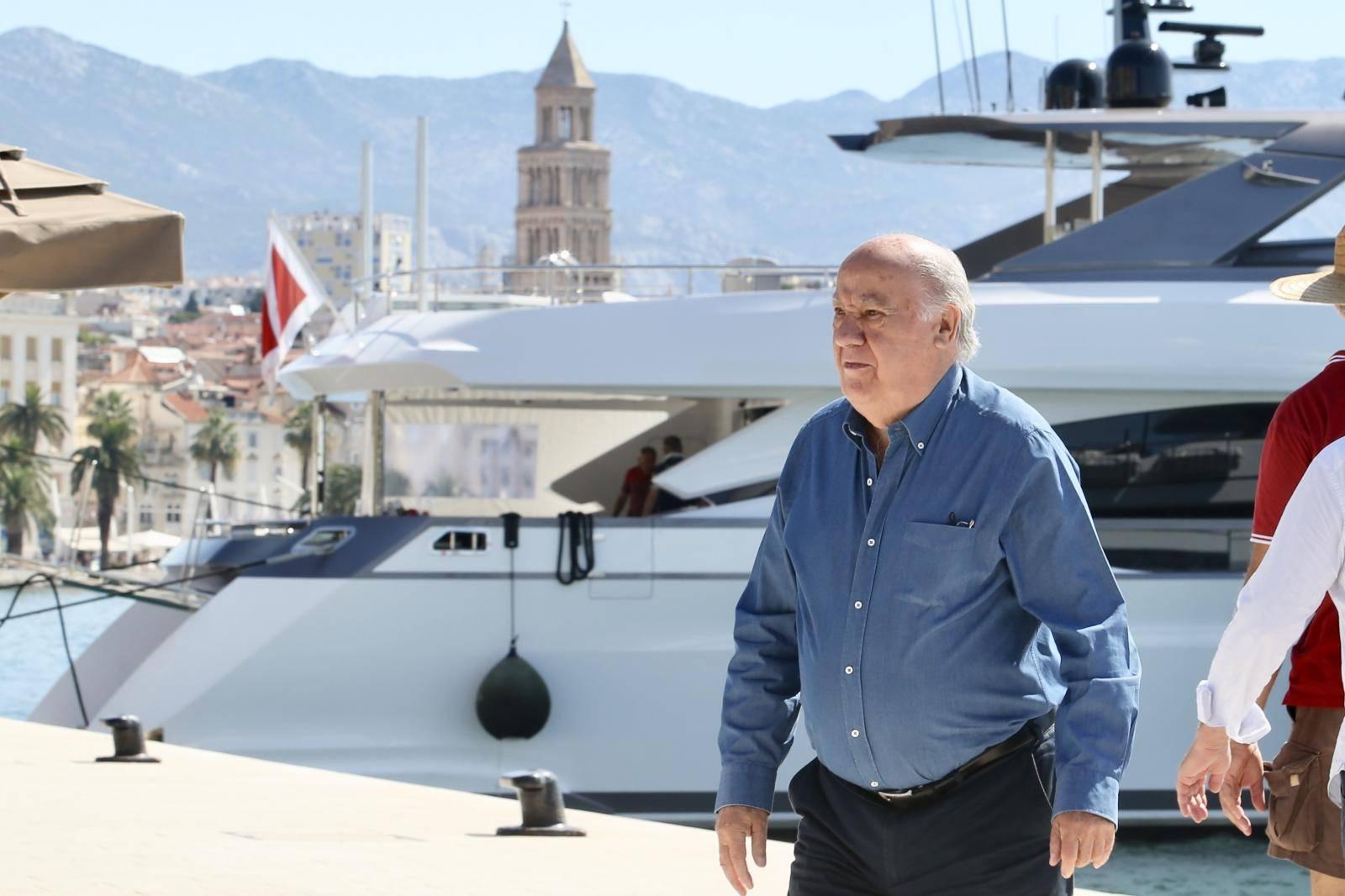 Amancio Ortega, vlasnik Zare, sa suprugom Florom Perez stigao u grad Split