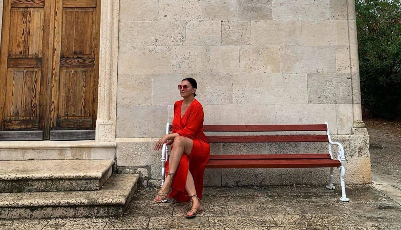 Nina Badrić pozirala u haljini, a stihovima se prisjetila Olivera