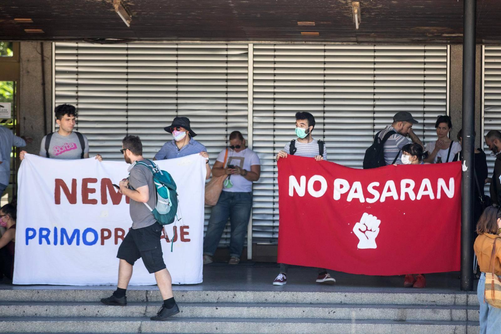 Zagreb: Prosvjed studenata Filozofskog fakulteta protiv rektora Borasa