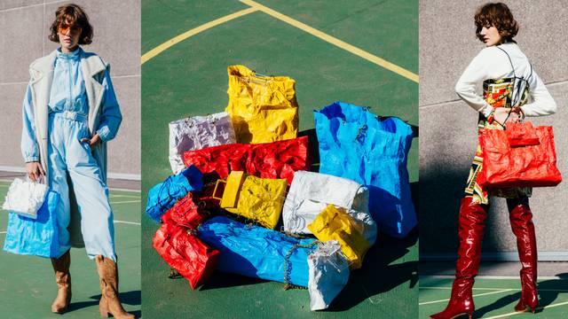 Naša dizajnerica radi torbe od recikliranih plastičnih vrećica