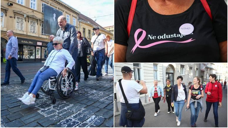 Brojni građani pridružili se šetnji Zagrebom u sklopu akcije 'Nisi sama - hodaj s nama'