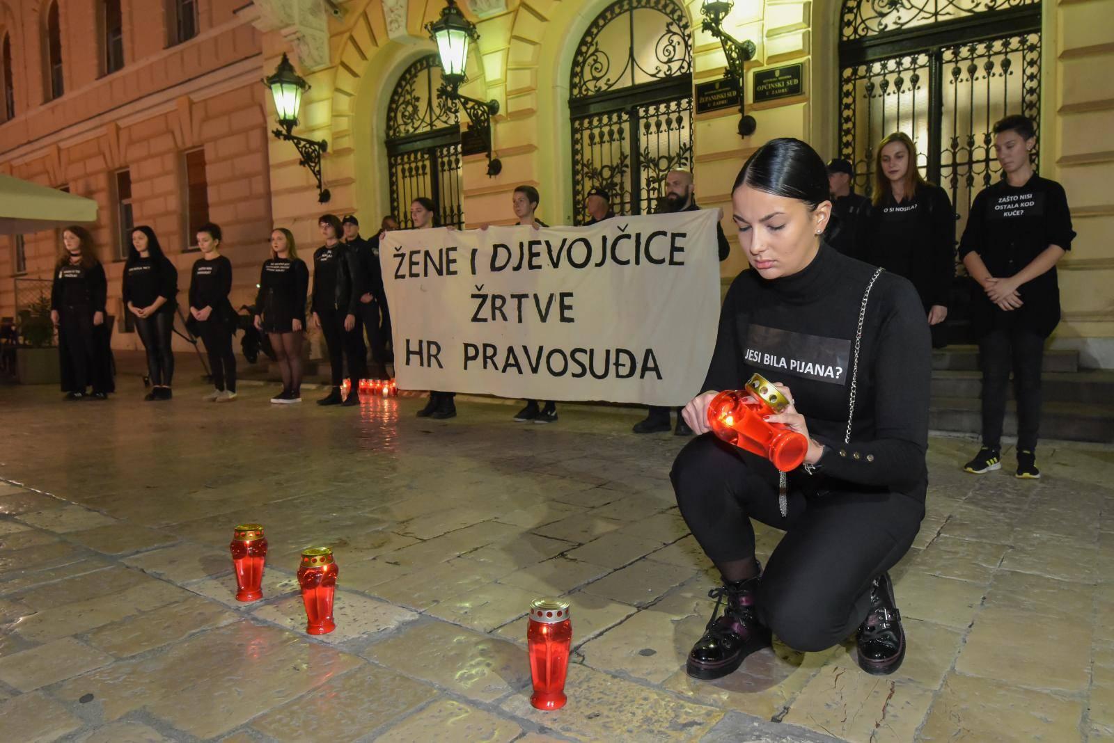Klub studenata Antifijaka organizirala mirni prosvijed ispred Županijskog suda u Zadru