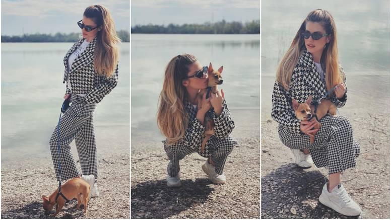 Ecija Ivušić pozirala sa psićem: 'Najbolja stvar koju sam ikad napravila je što sam rodila Rija'