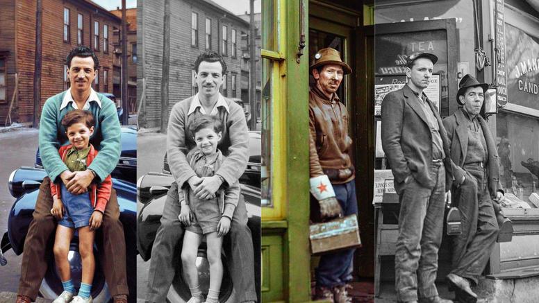 Crno-bijelim slikama iz prošlosti bojom daje potpuno novi život