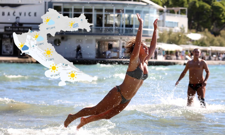Stiže još toplije vrijeme, i more je dovoljno toplo za kupanje...