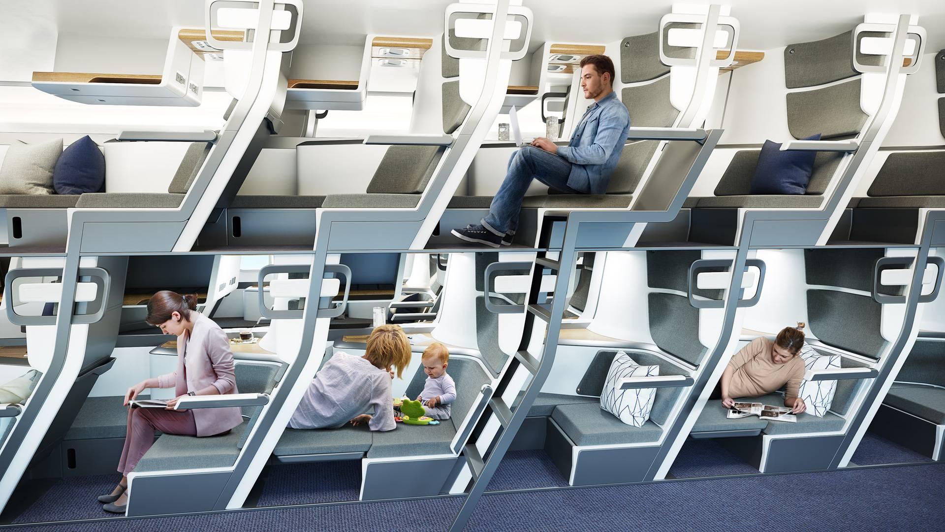 Dizajnirao dvokatna sjedala u avionu: Putnici mogu i ležati