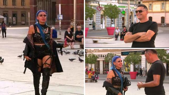 Olja šokirala Dragana: Nasred trga skinula se u seksi odjeću s remenjem, pa izvadila pištolj