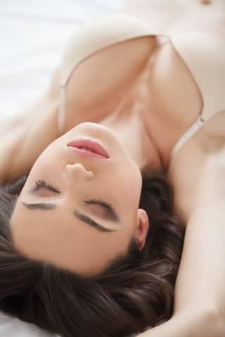 Beautiful women sleeping. Beautiful young women in lingerie slee