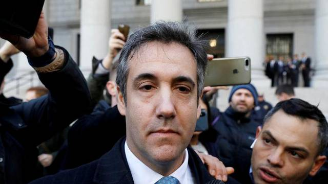 FILE PHOTO: U.S. President Donald Trump's former lawyer Michael Cohen exits Federal Court after entering a guilty plea in Manhattan, New York City